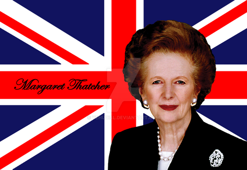 Margaret Thatcher And Flag by YehudisL