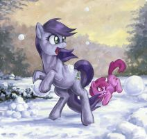 Snowball Fight by Choedan-Kal