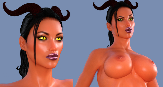 Demoness V3 W.I.P. by Disembowell