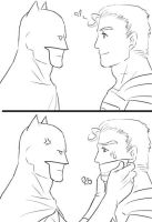 superman VS batman by koratCF