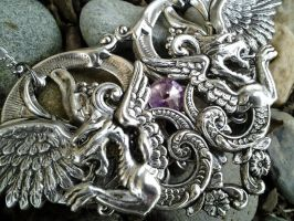 Cathedral of Wings Pendant 4 by ArtByStarlaMoore