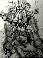 X-Men: Wolverine and Cable by chazDgreat