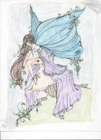 Leaf Fairy Line Art Colored by MIM199