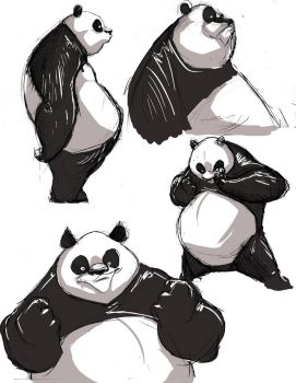 panda sketches by cereal199