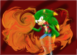 Kenny the Fire Hedgehog by SportyPrincess44