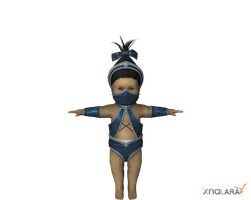 Baby Kitana for XNALara by deexie