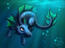 Water Dragon by jrtracey