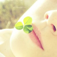 .: clover on lips :. by all17