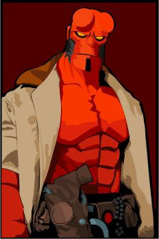 Hellboy by witchking08
