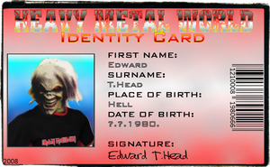 Eddie's ID by croatian-crusader