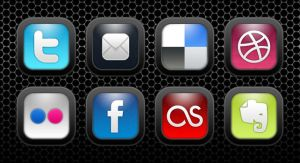 Jet Black Social Media Icons by prings