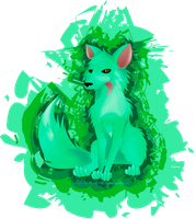 Hazmat the radioactive fox by KatIsConfused