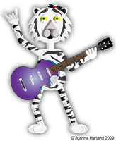 Guitar White Tiger by HarlandGirl
