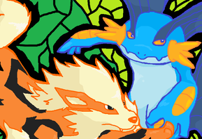.Battle. by gobixhoukou