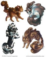 Cumulous Cats - Wild Winds by soulofwinter