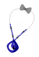 Cutie Mark Auction Cat Moon Necklace [CLOSE] by DelLyra