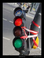 Damaged Traffic Light - color by olddragon
