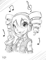 The not so fake diva - sketch by Gual-kun