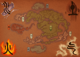 Avatar: the Last Airbender Map by tipsycakes