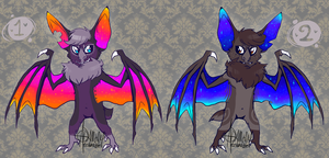 stary night sky bat adopts by Shark-Bites