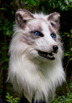 Arctic Fox Mask by netherdenstudio