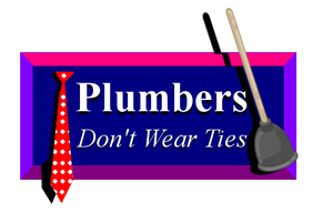 Plumbers Don't Wear Ties logo recreated by neon-knights