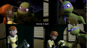 Donatello X April Wallpaper by MetaXTiffcosplayer