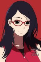 Older Sarada Uchiha by angelcake12