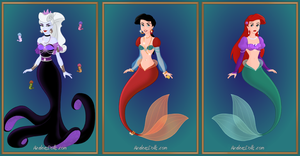 Ivana, Melody, Ariel by MobMotherScitah
