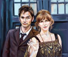 The Doctor and Donna by ladunya