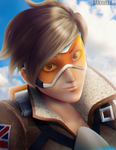 Fan Art- Tracer from Overwatch by DamXVilla