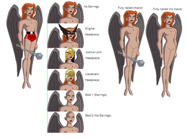 DCAU - Hawkgirl base by juanito316ss
