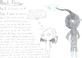 The Black Pikmin -Ubil's Report Day 1 by PikminHensley