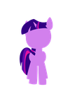 Twilight Sparkle Silhouette by Honatani