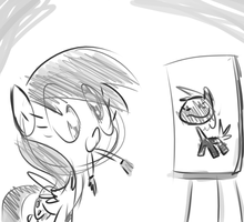 Derpy is a Master Artist by Tess-27