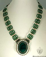 Royal green necklace N1275 by Fleur-de-Irk