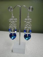 Swarovski Earrings by Nightmare-Lust