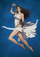 Revenge of the Pantheons : Artemis by doubleleaf
