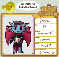 PKMN Crossing APP: Philyra by chibi-rabbit