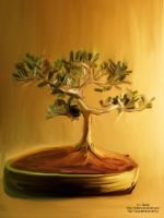 Bonsai Painting by amiLOnZ