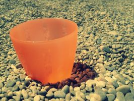 Cup on Beach by GazPoo