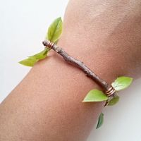 Natural Oak Twig and Vine Bracelet by cranegoose
