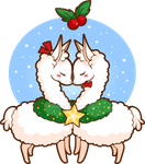 Holiday Love Llamas by YamPuff