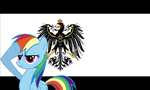 Rainbow Dash salutes Prussia by LordSolarMacharius