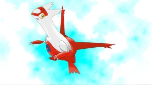 latias with background by magicalyuki