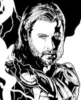 Thor - Thunderstruck by LRitchieInk