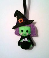 Wanda the Witch Halloween Ornament by msmegas