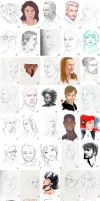 Portrait Exercise compilation #1-50 by Charneco