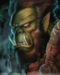 Warcraft: Orc portrait by foxinsoxx