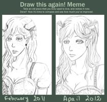 Draw this again meme : Frozen Fairy by Peatchoune